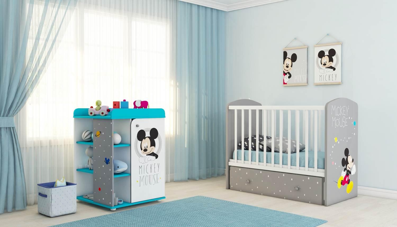 768e6f4c306 Детская комната Polini Disney baby Микки Маус  кровать 750+комод 2090